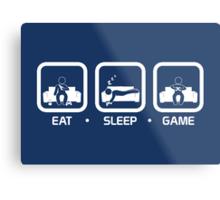 Eat, Sleep, Game (Console Version) Metal Print