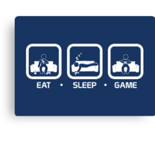 Eat, Sleep, Game (Console Version) Canvas Print
