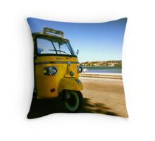 Yellow TUC TUC  Piaggio Throw Pillow