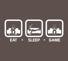 Eat, Sleep, Game (Console Version) Kids Clothes
