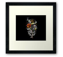 steam powered skull Framed Print