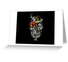 steam powered skull Greeting Card