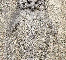 owl granite relief by mrivserg