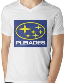 Pleiades Mythology Esoteric Mystery School Subaru Auto Logo Mens V-Neck T-Shirt