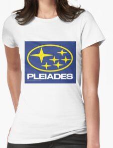 Pleiades Mythology Esoteric Mystery School Subaru Auto Logo Womens Fitted T-Shirt