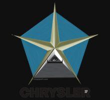 Chrysler Pentagram Pyramid Pentagon Esoteric Automotive Symbol Logo One Piece - Long Sleeve