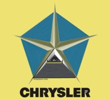 Chrysler Pentagram Pyramid Pentagon Esoteric Automotive Symbol Logo Kids Tee
