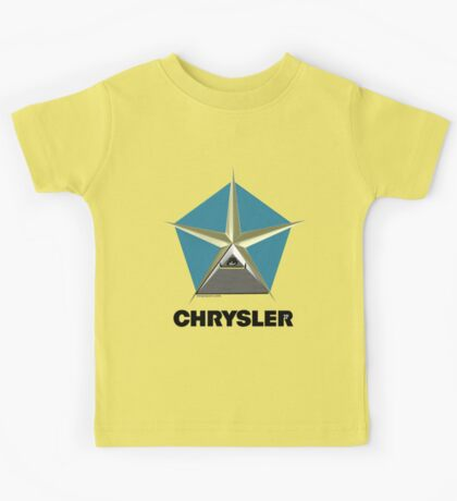 Chrysler Pentagram Pyramid Pentagon Esoteric Automotive Symbol Logo Kids Tee