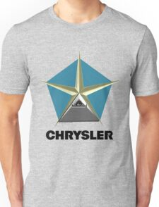 Chrysler Pentagram Pyramid Pentagon Esoteric Automotive Symbol Logo Unisex T-Shirt