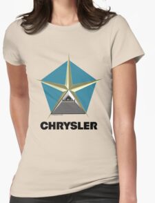Chrysler Pentagram Pyramid Pentagon Esoteric Automotive Symbol Logo Womens Fitted T-Shirt