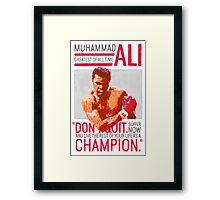 Muhammad Ali - G.O.A.T.  Framed Print