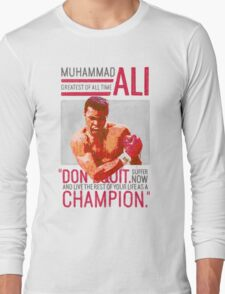 Muhammad Ali - G.O.A.T.  Long Sleeve T-Shirt