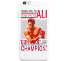 Muhammad Ali - G.O.A.T.  iPhone Case/Skin