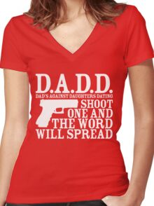 DADD Women's Fitted V-Neck T-Shirt