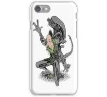 alien vs baby iPhone Case/Skin