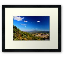 Western Virginia from Black Mountain Framed Print