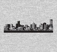 melbourne skyline One Piece - Long Sleeve