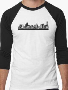 melbourne skyline Men's Baseball ¾ T-Shirt