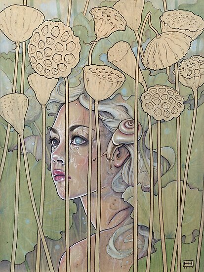 'Nelumbo' (Lotus Nymph) by Fay Helfer