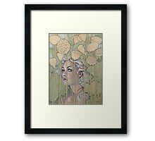 'Nelumbo' (Lotus Nymph) Framed Print
