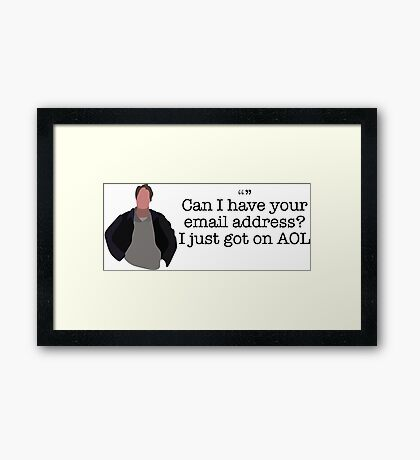 AOL Guy Parks and Recreation Framed Print