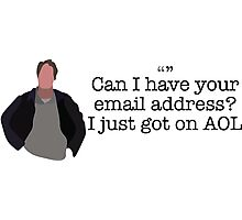 AOL Guy Parks and Recreation Photographic Print
