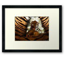 Tiger doll  Framed Print