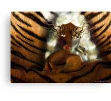 Tiger doll  Canvas Print