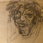 blind drawing of kenny by Alfred Gillespie