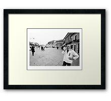 BARBER - BURANO , ITALY 2012 Framed Print