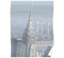 Aerial View of Chrysler Building, As Seen From Empire State Building Observation Deck, New York City Poster