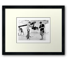 KOREAN FILM CREW - ITALY 2010 Framed Print