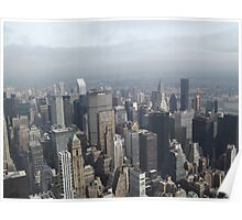 Aerial View of Midtown Manhattan, As Seen From Empire State Building Observation Deck, New York City Poster