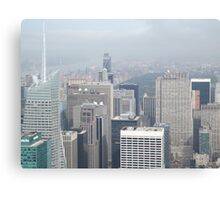 Aerial View of Midtown Manhattan, Times Square, Central Park, As Seen From Empire State Building Observation Deck, New York City Canvas Print