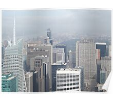 Aerial View of Midtown Manhattan, Times Square, Central Park, As Seen From Empire State Building Observation Deck, New York City Poster