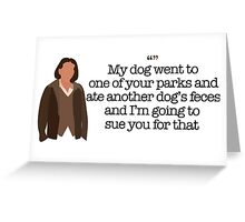 Another Dog's Feces Lady Parks and Recreation Greeting Card