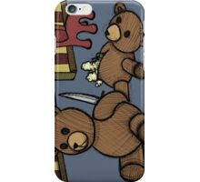 Teddy Bear And Bunny - Who Me? iPhone Case/Skin