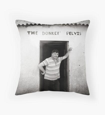 The Donkey Pelvis, Owey Island Throw Pillow