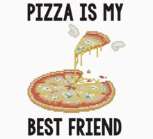 Pizza is my best friend tee Kids Clothes