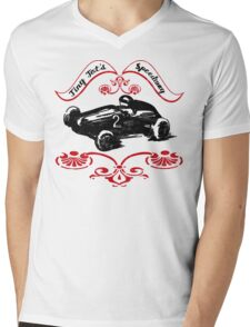 Girls and Boys Speed Shop Tiny Tot's Speedway  Mens V-Neck T-Shirt
