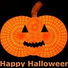 Spooky Spirograph Halloween Pumpkin! (with Text) by RachelEDesigns
