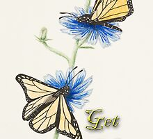 Get Well Butterflies by jkartlife
