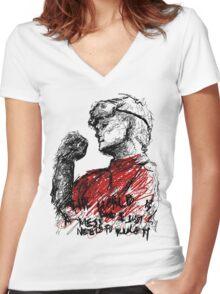 Ph.D in Horribleness Women's Fitted V-Neck T-Shirt