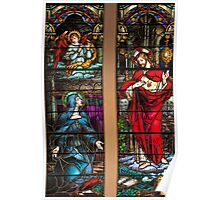 St. Margaret Mary Alacoque and Sacred Heart of Jesus Poster