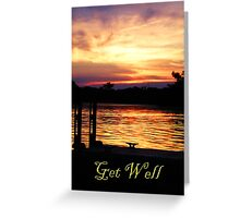 Get Well Boat Dock Greeting Card
