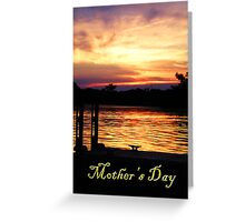 Mother's Day Boat Dock Greeting Card