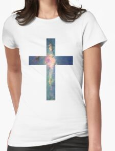 A Cross in the Stars Womens Fitted T-Shirt