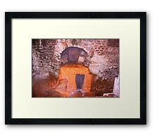 The orange Holly water- Aqua sulis Framed Print