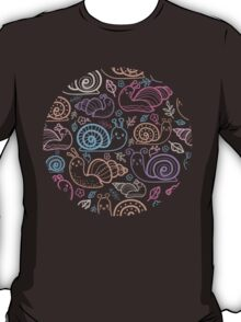 Cute little snails pattern T-Shirt