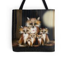 Fox Family Tote Bag